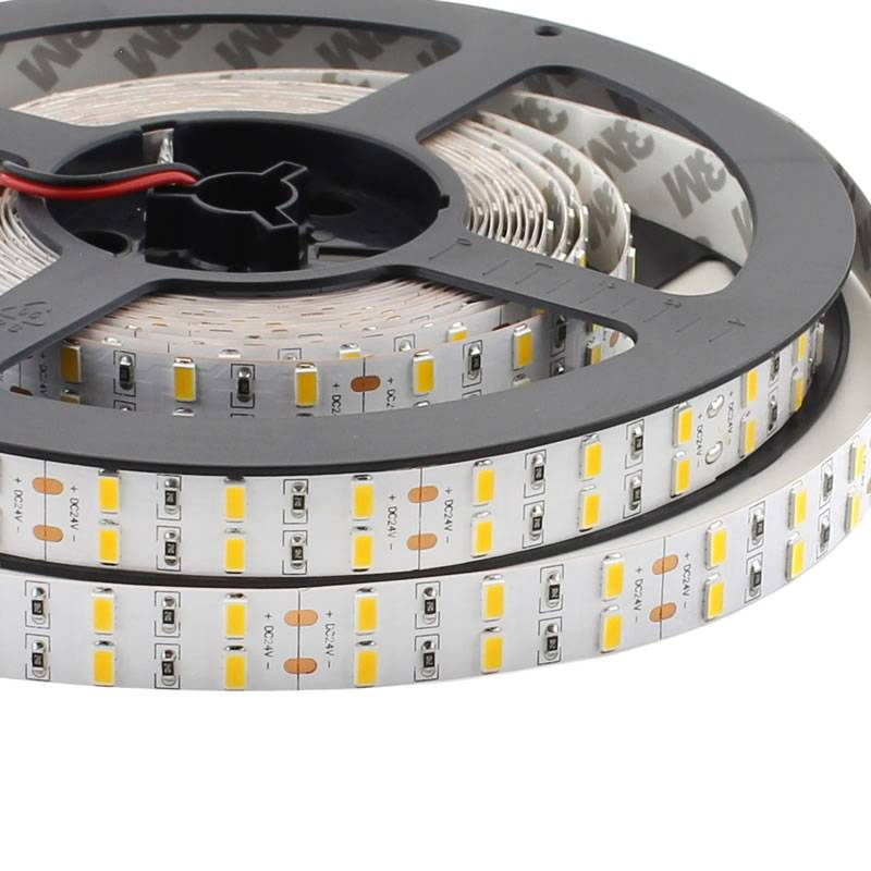 Tira LED Monocolor SMD5630, ChipLed Samsung, DC24V, 5m (120 Led/m 2 filas) - IP20