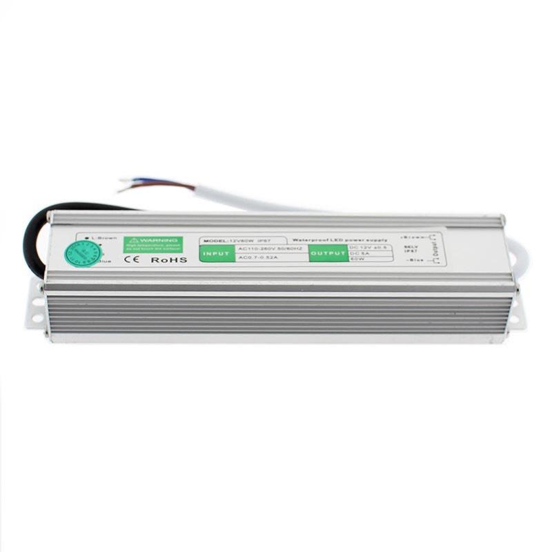 Fuente de alimentación IP67, DC12V/60W/5A