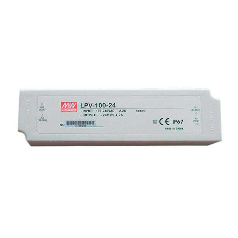 Adaptador de corriente Mean Well LPV-100-24, IP67, DC24V/100W/2.15A
