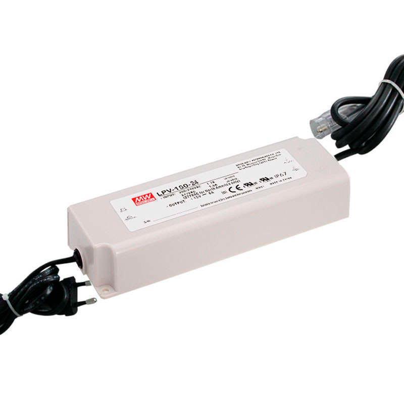 Adaptador de corriente Mean Well LPV-150-24, IP67, DC24V/150W/3.2A