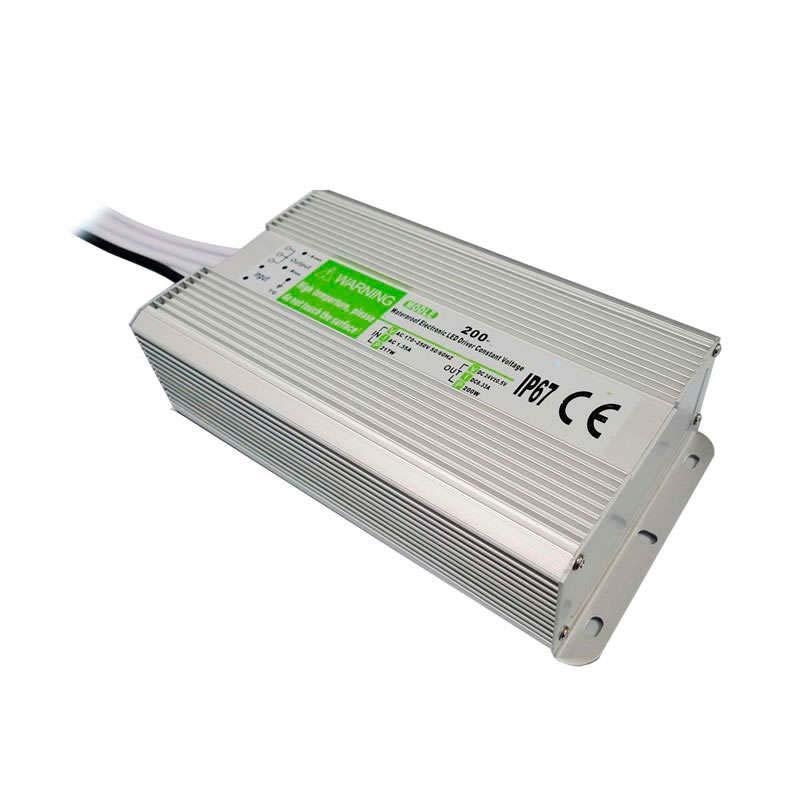 Fuente de alimentación IP67, DC12V/200W/16,6A