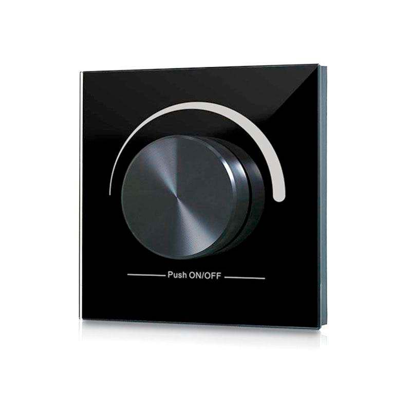 Mando LB2836 monocolor RF, Ruleta pared, negro