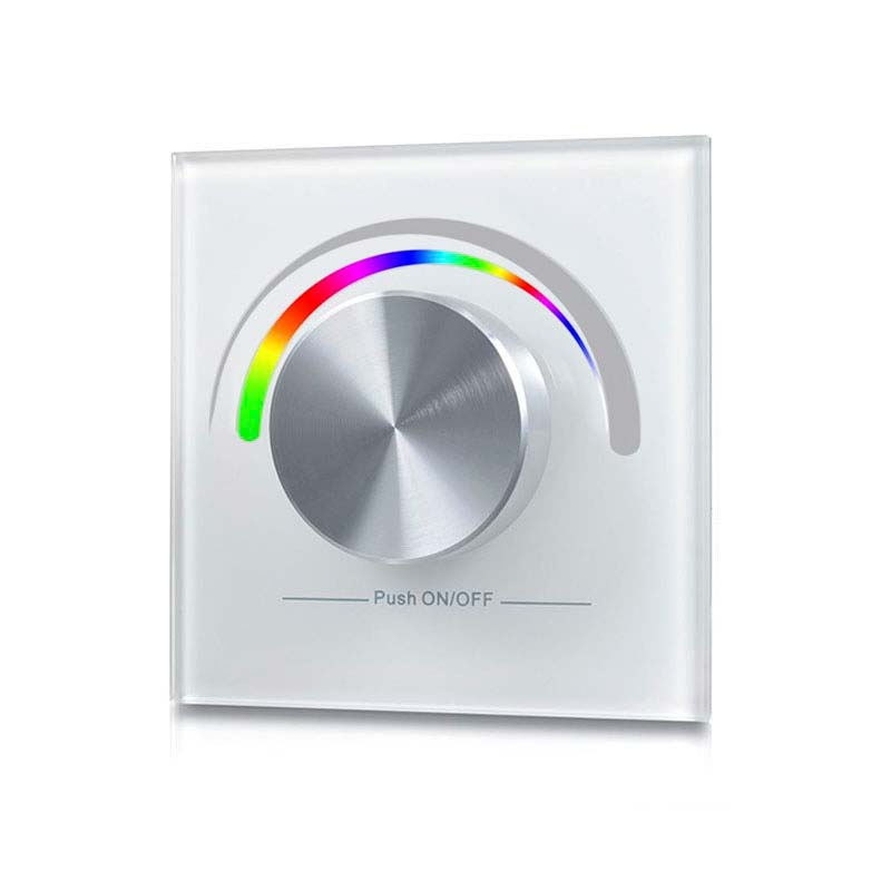 Panel frontal LB2836 RGB, Ruleta pared, blanco
