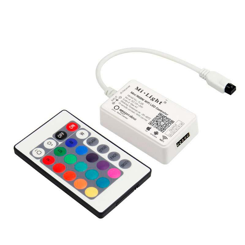 Controlador MINI RGBW para Tiras LED, Alexa Voice Control