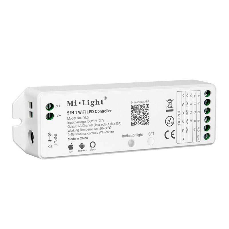 Controlador 5 em 1, WiFi APP, Alexa Voice Control
