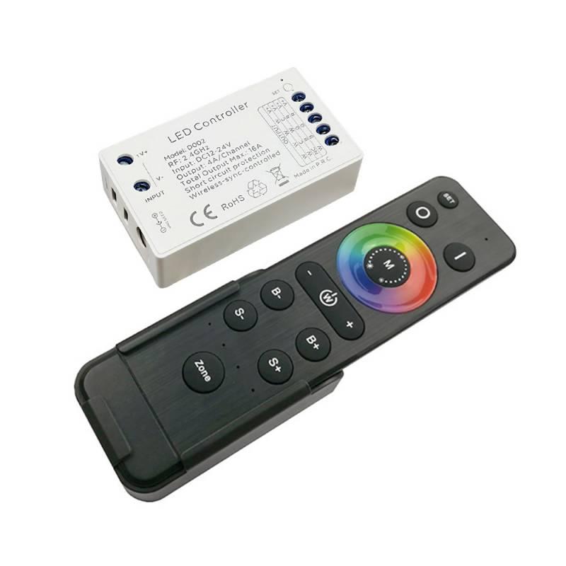 Set Controlador 4x6A (MONO, CCT, RGB, RGBW) + Mando a distancia 4Z RF