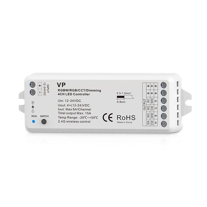 Controlador Relay 4 en 1 (MONO, CCT, RGB, RGBW)