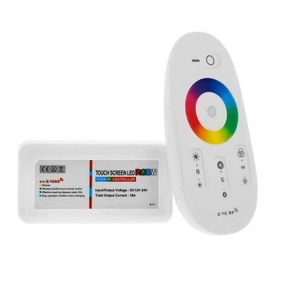 Controlador WiFi RGBW-RF-TC4 + mando táctil