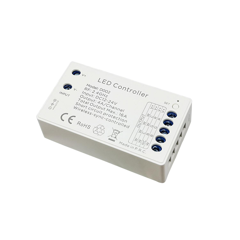 Controlador D2, 4 en 1, 4x4A 4Z (MONO, CCT, RGB, RGBW)