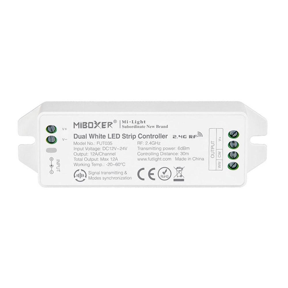 Controlador CCT branco dual RF 4 zonas 12A
