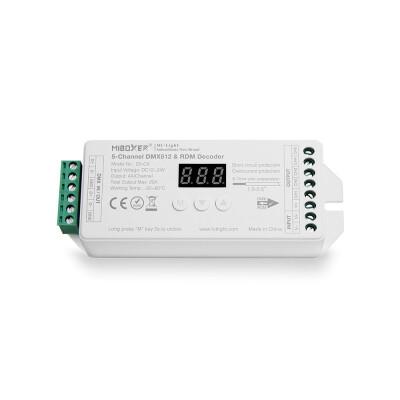 Decoder DMX512-RDM, RGB+CCT, 20A, 2.4Ghz RF
