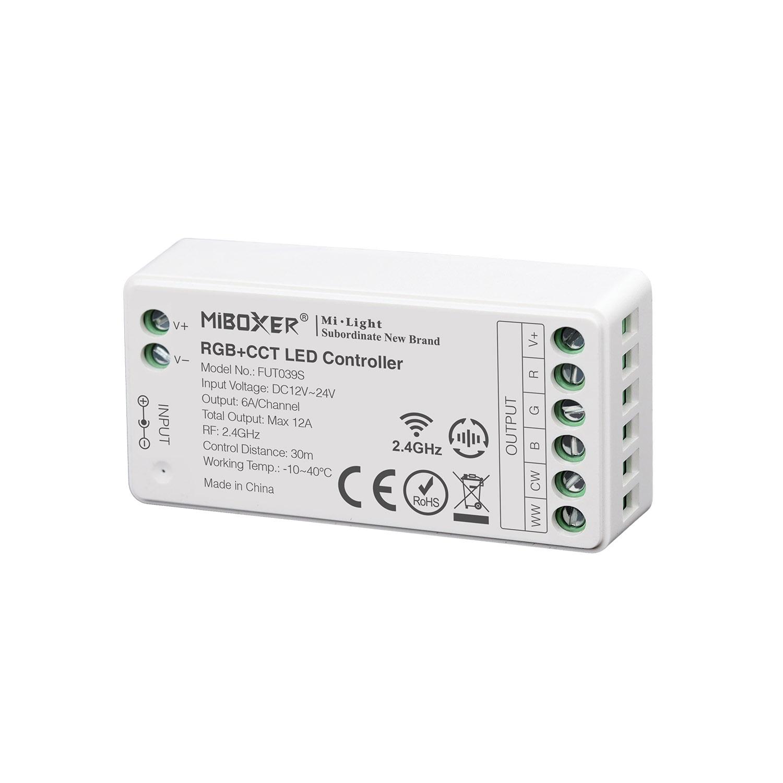 Controlador RGB+CCT mini - RF 4 zonas 12A
