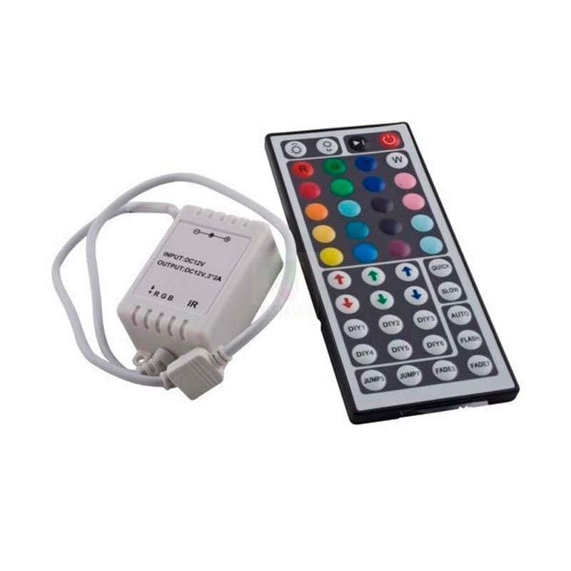 Controlador IR tira led RGB 44 botones