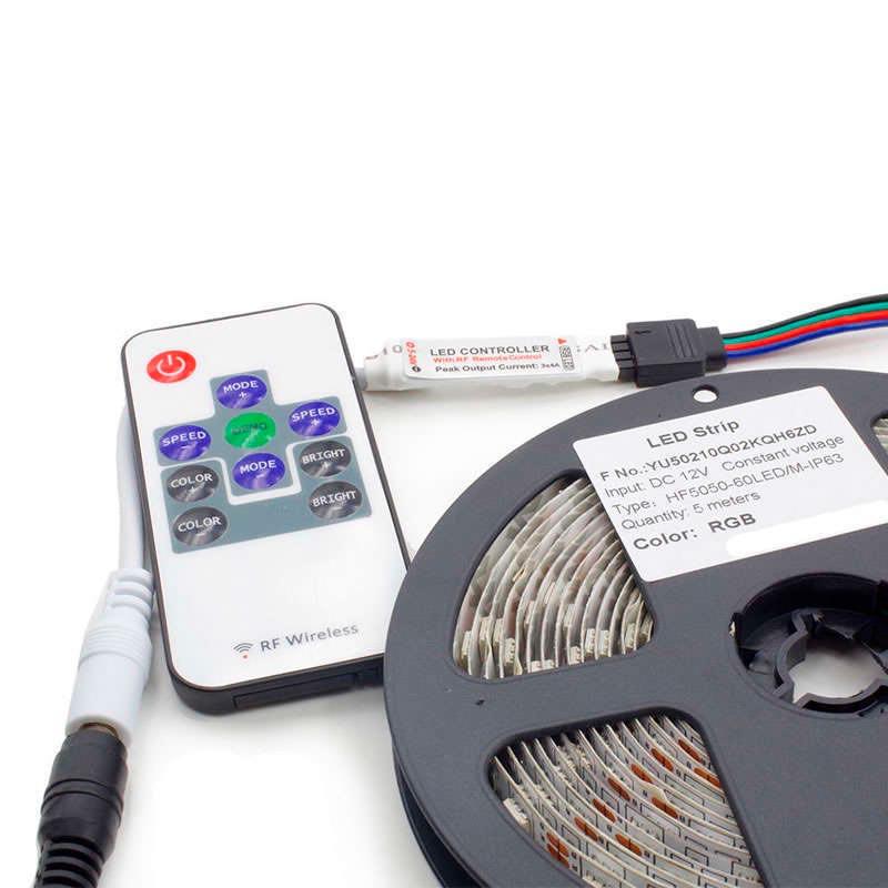 Controlador RF Mini tira led RGB + mando
