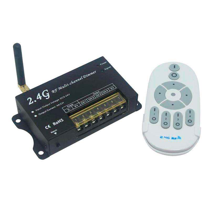 Controlador RF Dimmer 4 canales