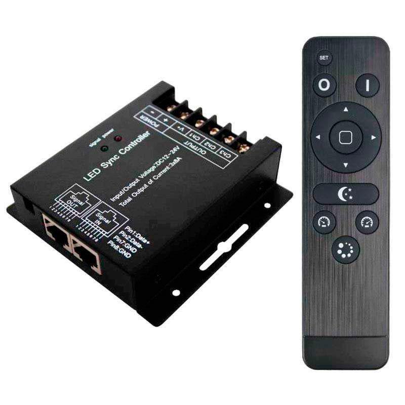 Controlador RGB RF SYNC + comando à distancia