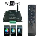 Controlador WIFI-LED V03 (mono, dual, RGB) + RF controle