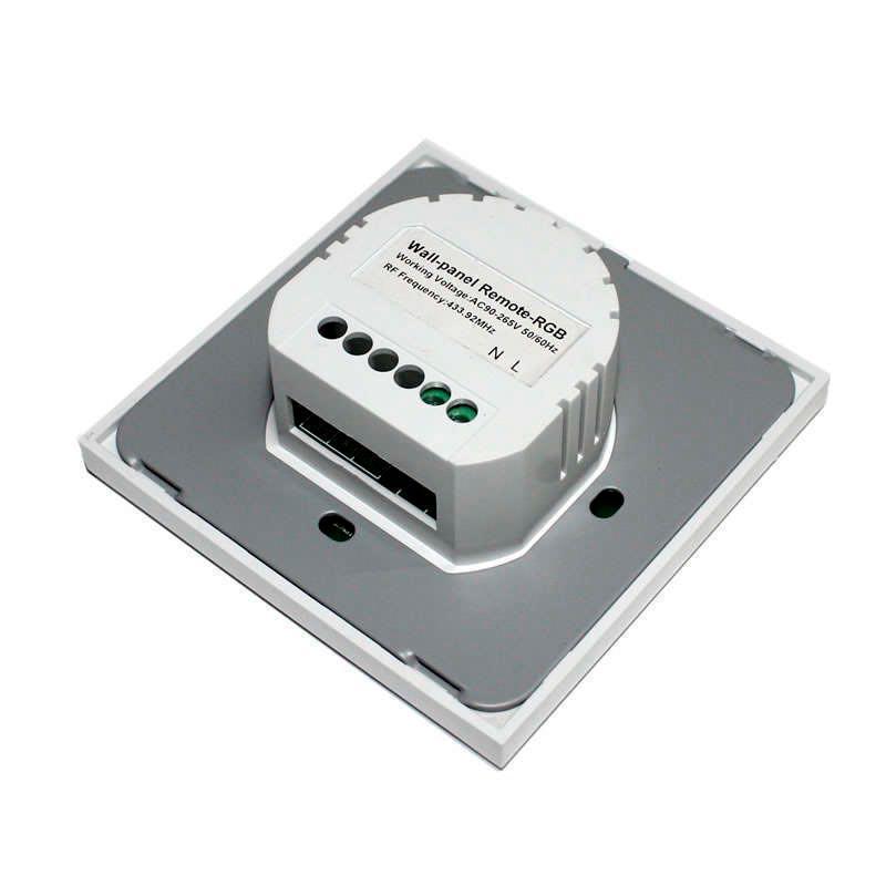 Controlador RF RGB táctil empotrable