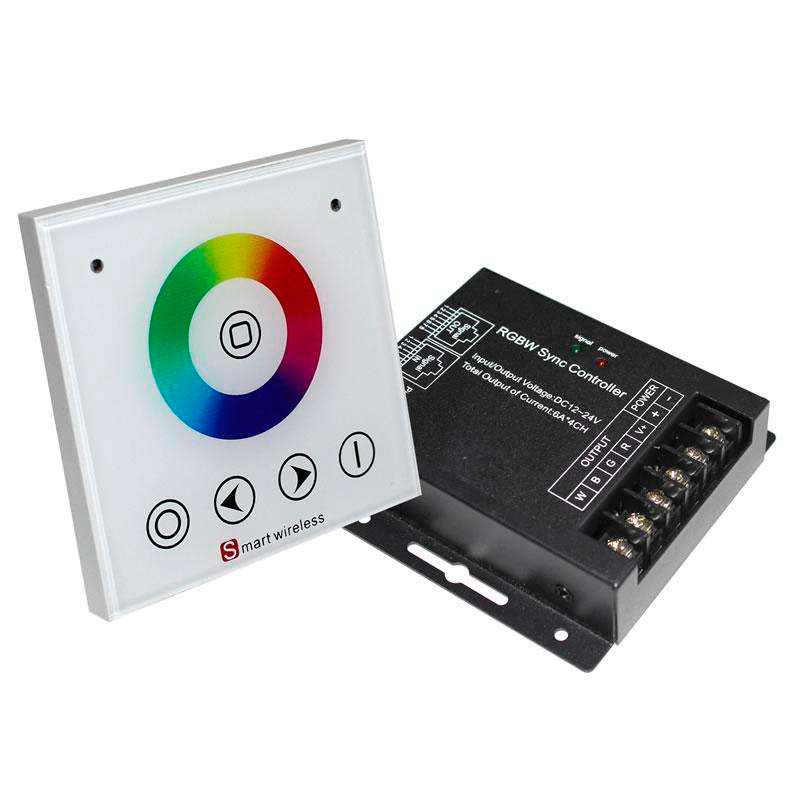 Controlador RF RGBW táctil encastrar