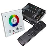Controlador RF RGB táctil encastrar + comando à distancia