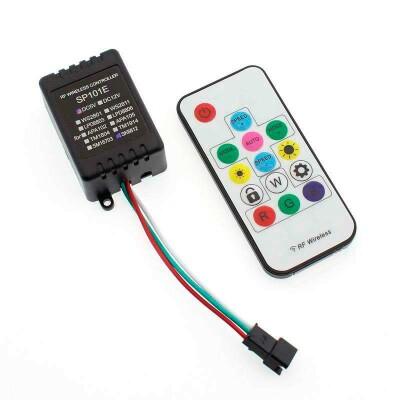 Controlador SP101E RF para fita LED IC Digital + comando