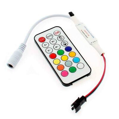 Controlador SP103 IR para tira LED IC Digital + mando