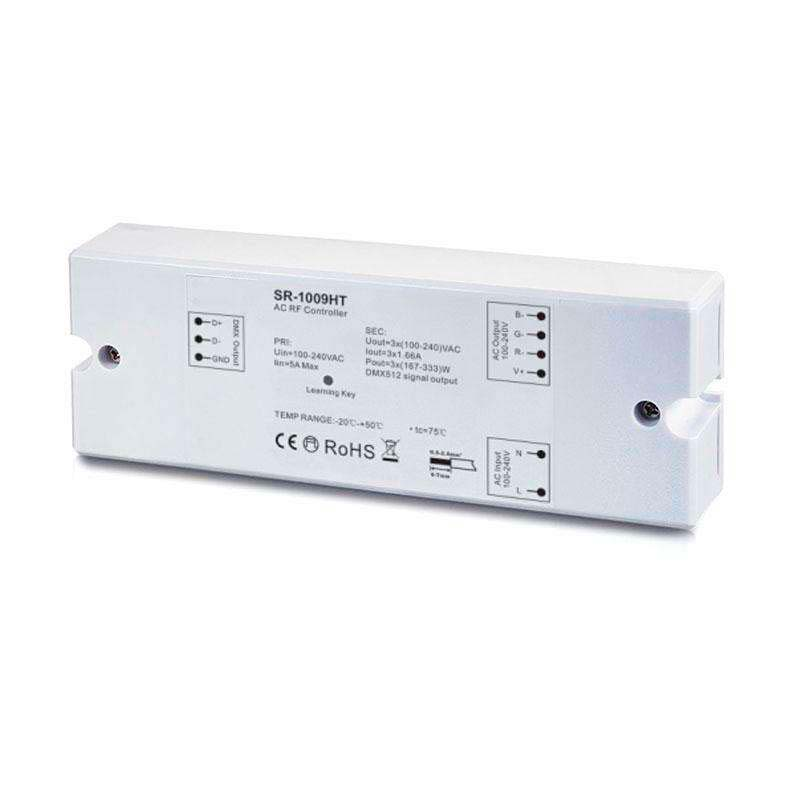 Controlador LB1009HT, AC MONO/RGB RF + WiFi, PWM + DMX