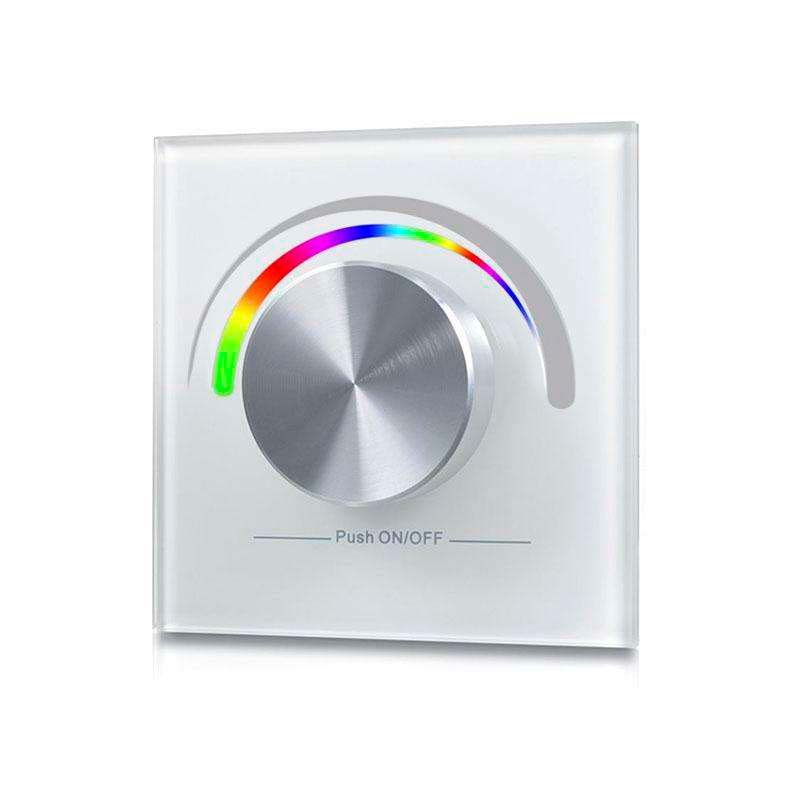 Mando LB2836 RGB RF, Ruleta pared, blanco