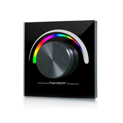 Mando LB2836 RGB RF, Ruleta pared, negro