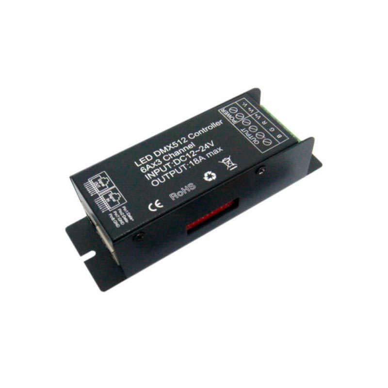 Controlador DMX para fita led RGB
