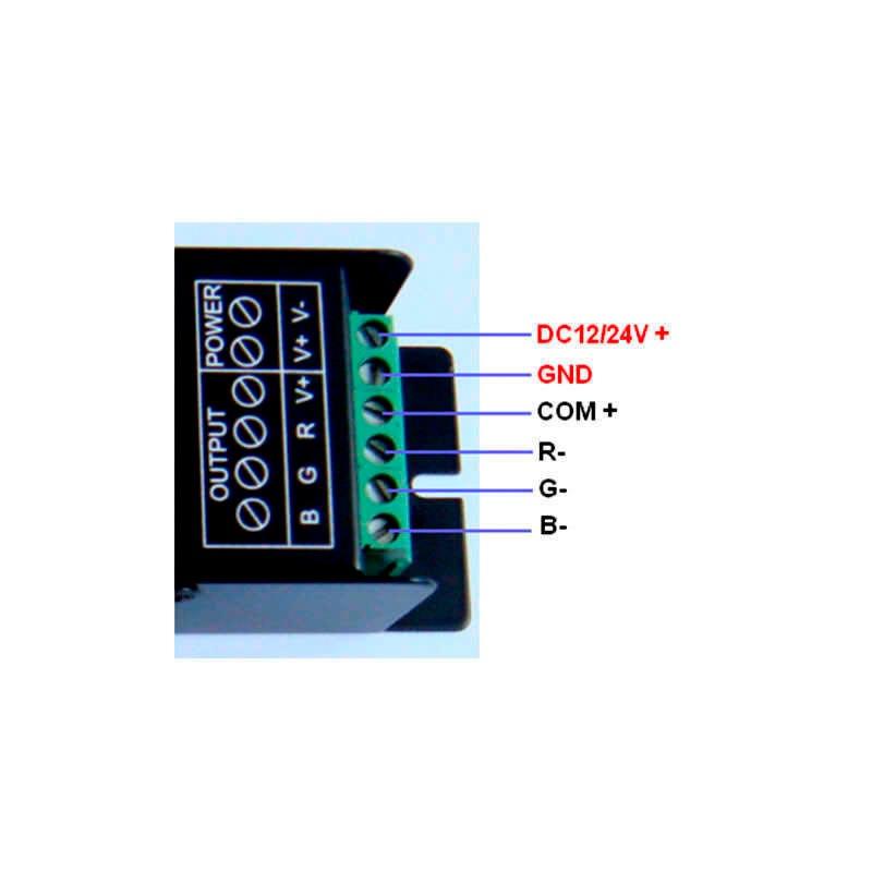 RGB LED strip DMX controller + remote control