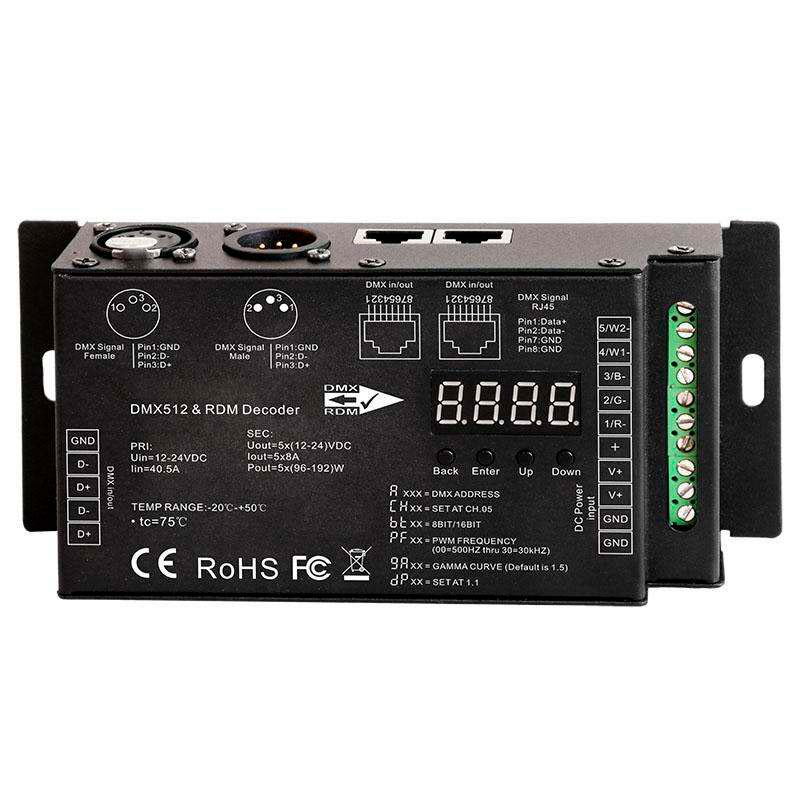 Decoder LB2108 RMD+DMX512-DC, 5CH