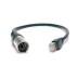 Cable RJ45-DMX macho - 1m