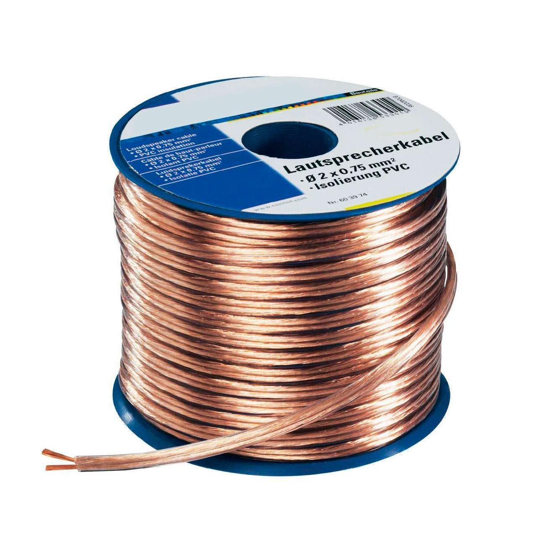 Cable transparente 2x1,5mm gold, 1m