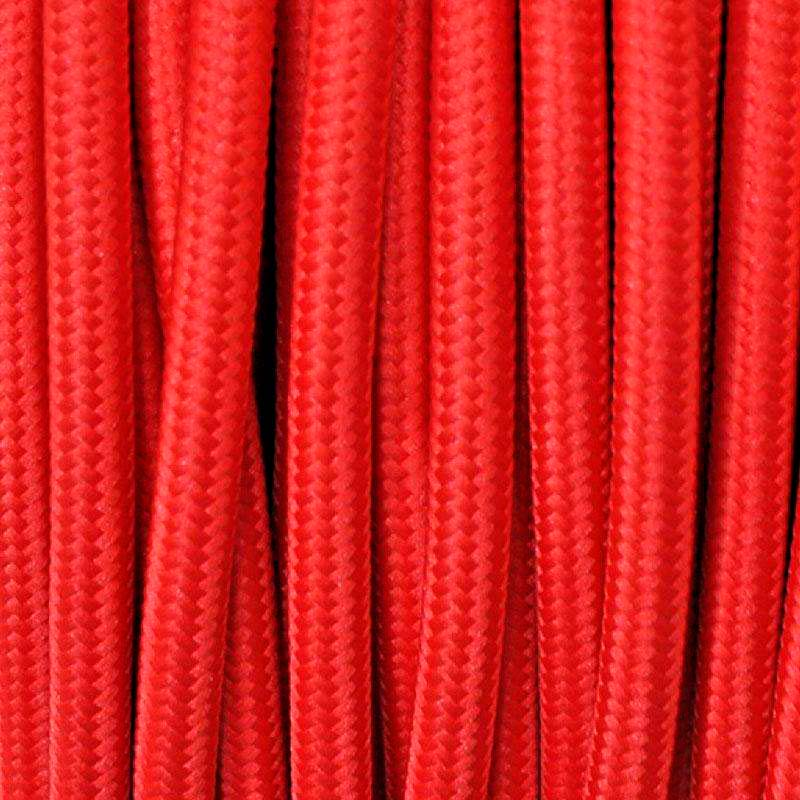 Cable textil redondo 2x0,75mm, 1m, rojo