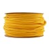 Cable textil redondo 2x0,75mm, 1m, amarillo