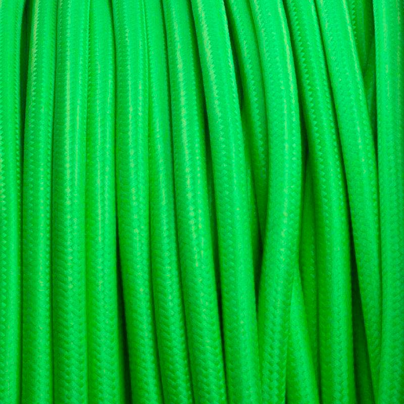 Cable textil redondo 2x0,75mm, 1m, verde