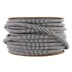 Cabo têxtil redondo 2x0,75mm, 1m, preto-branco