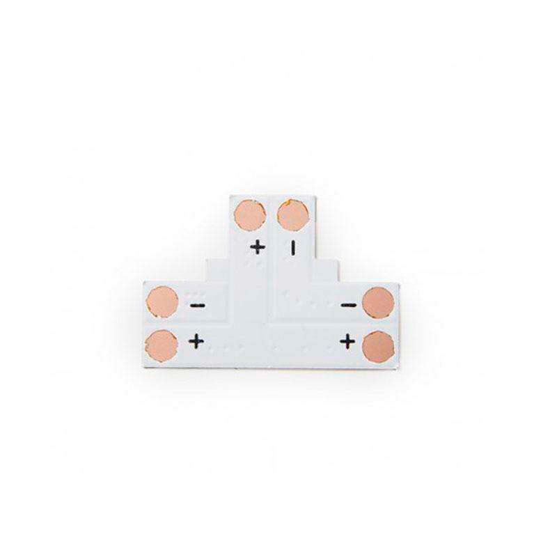 Conector T para tiras monolor 2 Pin - 8mm