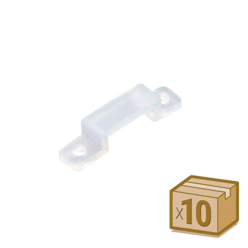 10x grapas 10mm silicona para tira led
