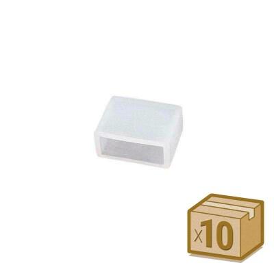 10x tapones de silicona 12mm para tira led
