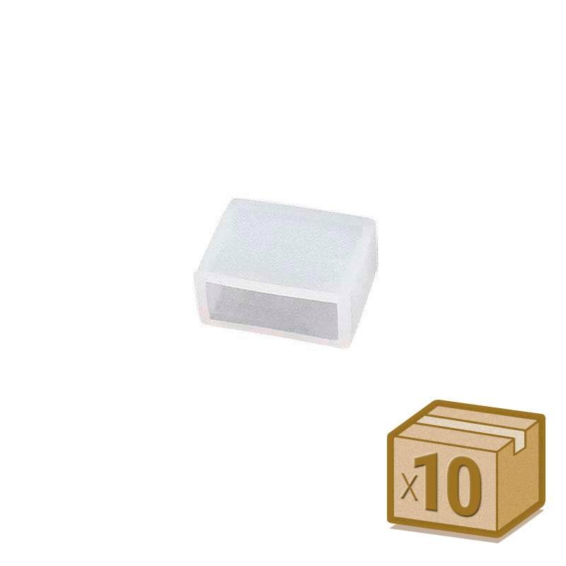 10x tampas de silicone 12mm para fita led