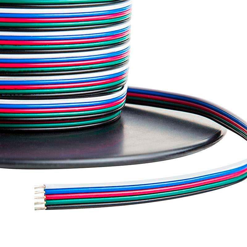 Cabo de conexão à medida para fitas LED RGBW 5x0,50mm, 1 metro