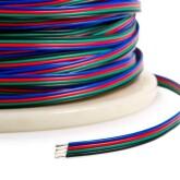 Cabo de conexão à medida para fitas LED RGB 4x0,50mm, 1 metro