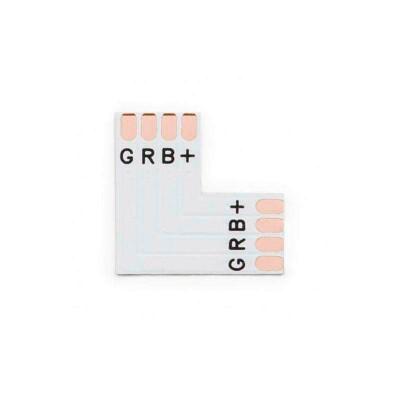 Conector L para tiras RGB 4 Pin - 10mm