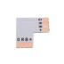 Conector L para fitas RGB 4 Pin - 10mm