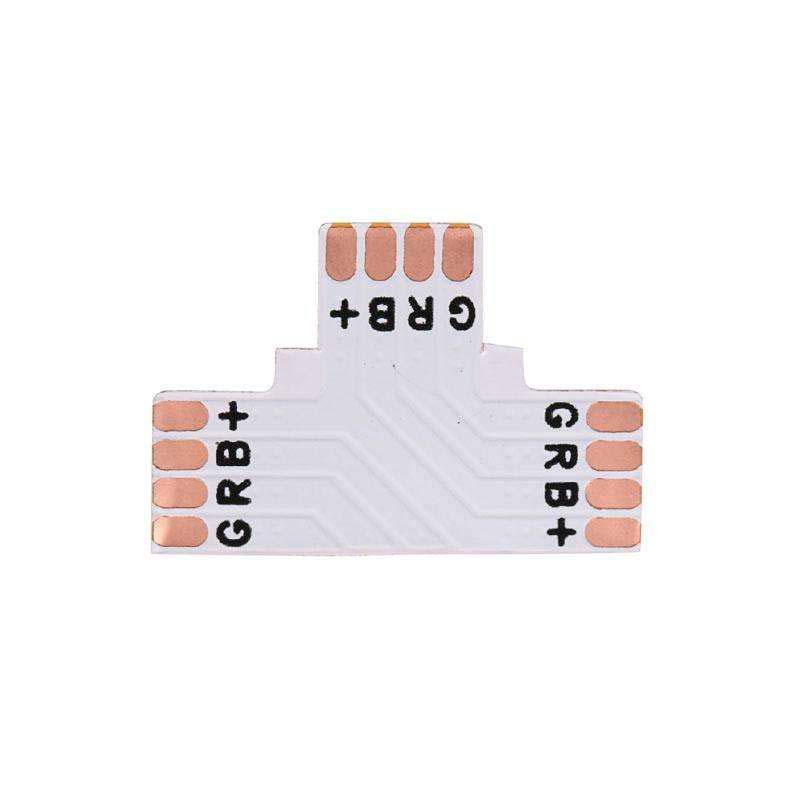 Conector T para tiras RGB 4 Pin - 10mm