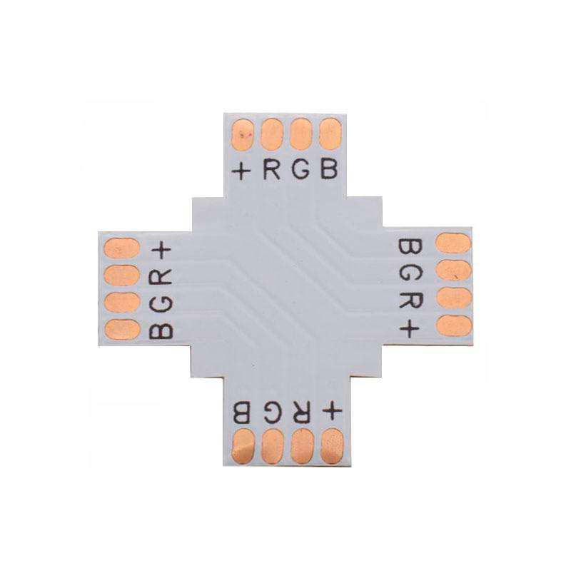 Conector X para tiras RGB 4 Pin - 10mm