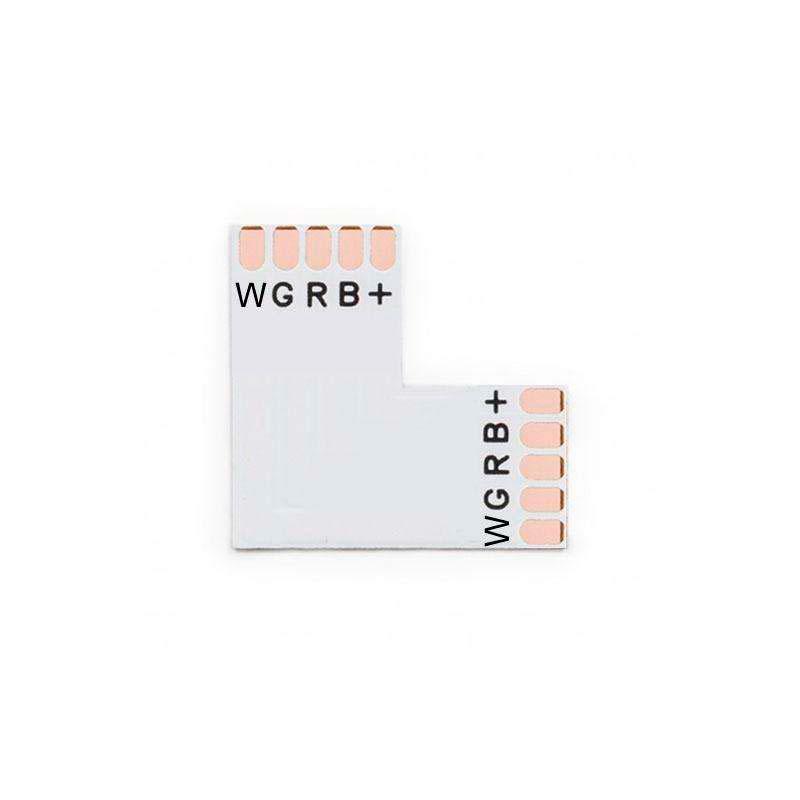 Conector L para fitas RGBW 5 Pin - 12mm