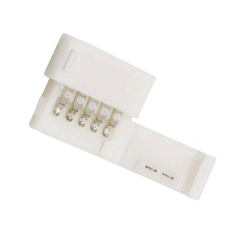 União / conector rígido Pin Click para fitas LED RGBW 5 pin